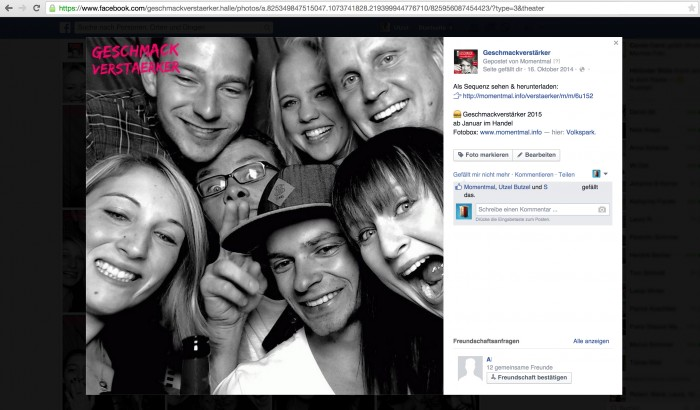 Fotobox-Facebook